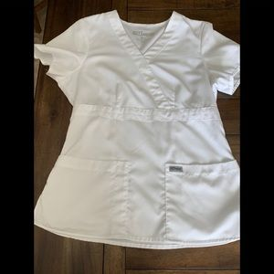 Grey's Anatomy white scrub top